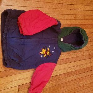 Gently used kids pooh bear jacket, size 3
